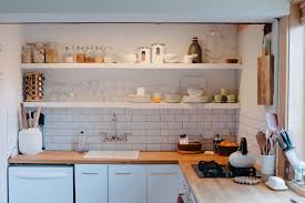 Getting an open shelving is a trendy kitchen remodel project