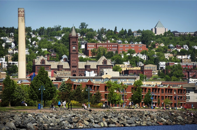 Go downtown Duluth MN while at the vacation rental on Lake Superior