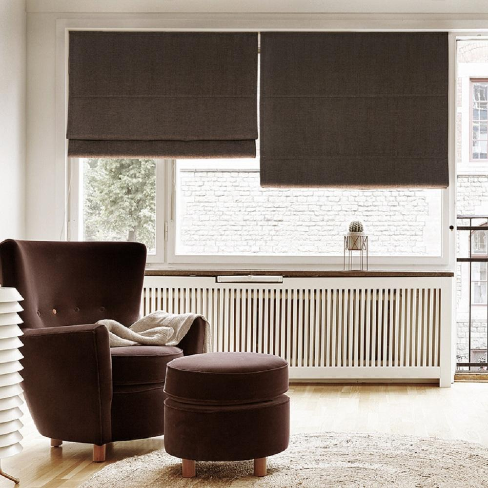 Window blinds are available in different colors and materials